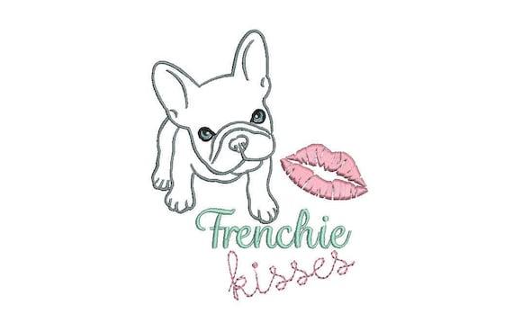 Machine Embroidery French Bulldog Machine Embroidery File design 5x7 inch hoop Frenchie Embroidery