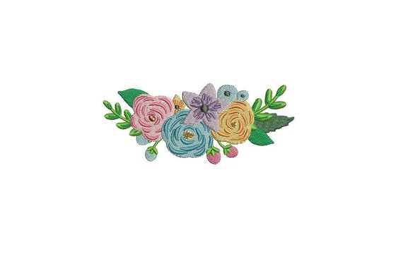 Machine Embroidery Flowers 1 Machine Embroidery File design 4x4 inch hoop Embroidery design