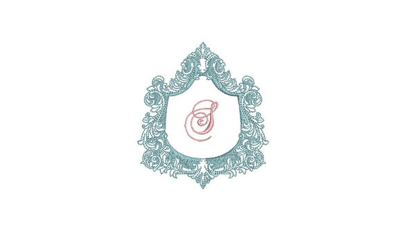 Baroque Luxe Scroll Frame - Machine Embroidery File design - 4x4 inch hoop - Monogram Frame