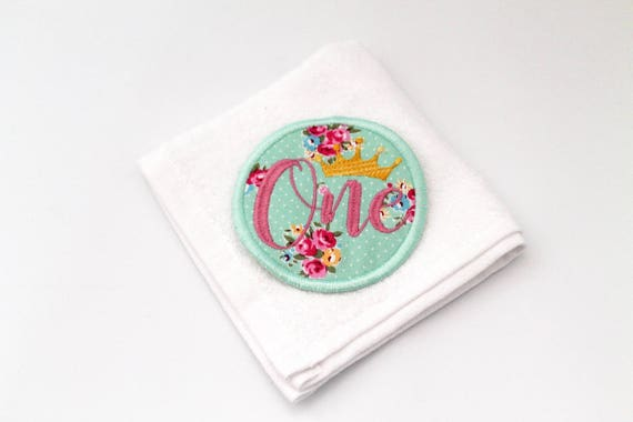 First Birthday ONE Patch Badge Machine Embroidery File design 4 x 4 inch hoop