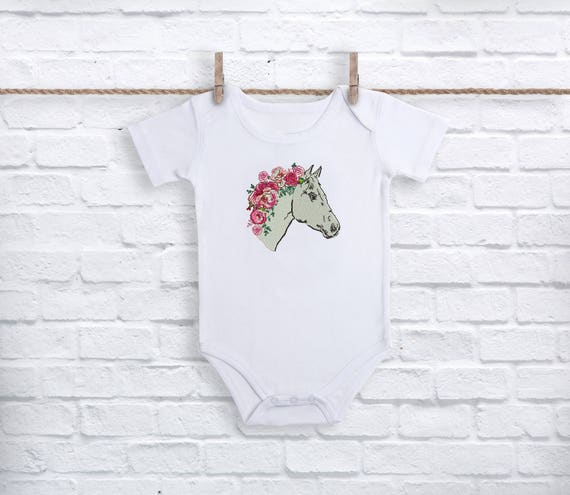 Rosey Horse Machine Embroidery File design - 4x4 inch or 10x10cm hoop - Boho Machine Embroidery - Digital Download