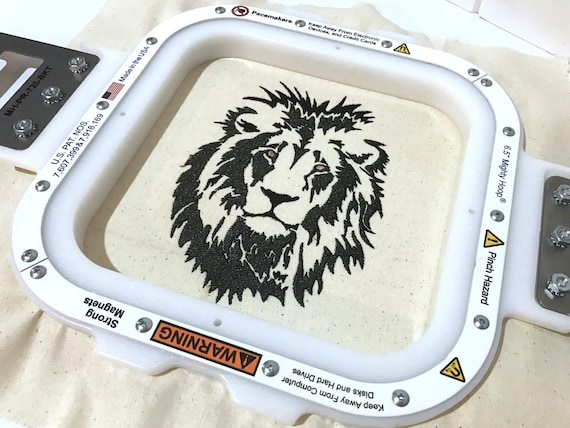 Lion Machine Embroidery File design 5x7 hoop
