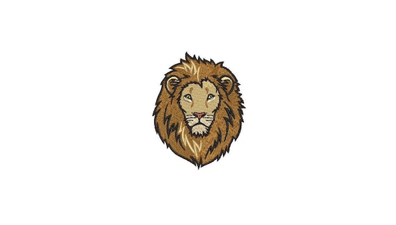 Lion Face Embroidery - Urban Modern Lion Machine Embroidery File design 4x4 inch hoop