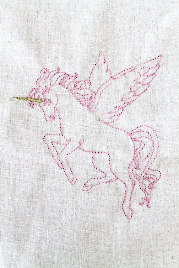 Pegasus Unicorn Embroidery Design -Machine Embroidery File design 5x7 hoop - instant download