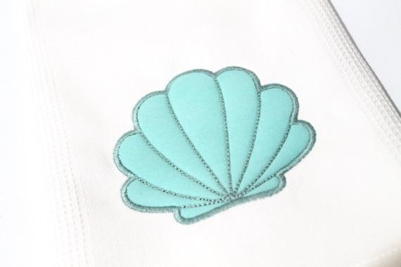 Beach House Sea Shell Applique Machine Embroidery File design 5x7 hoop