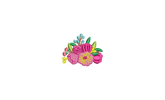 Mini Flowers Machine Embroidery File design - 3 x 3 inch hoop - Mini flower embroidery