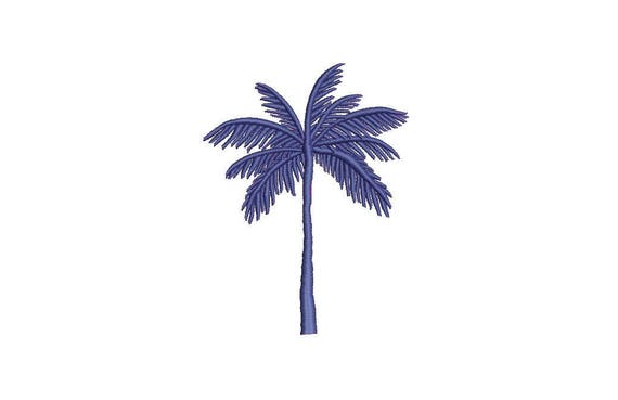 Palm Tree Machine Embroidery File design - 4 x 4 inch hoop - Palm Silhouette