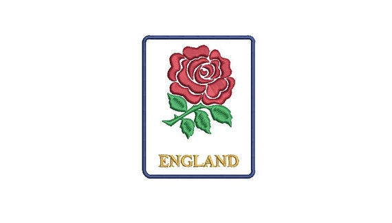 England Rose Machine Embroidery - File design 4 x 4 inch hoop - Instant Download -Makes a great patch