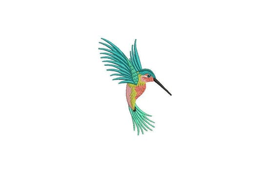 Machine Embroidery Hummingbird Machine Embroidery File design 4x4 inch hoop