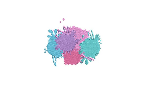 Paint Splatter - Machine Embroidery File design - 4x4 inch hoop -  instant download