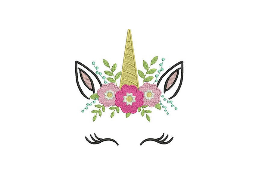 unicorn embroidery design machine embroidery unicorn face flowers