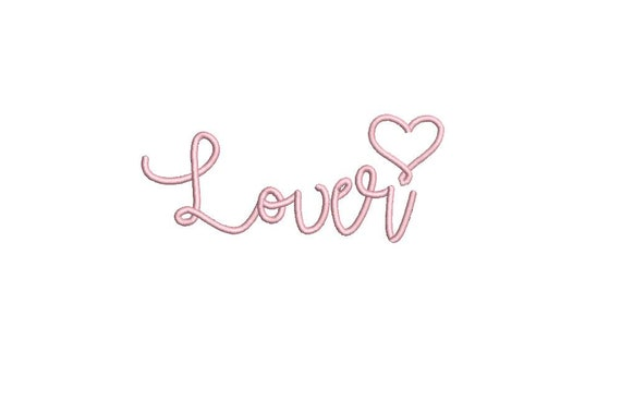 Lover Handwritten Word Machine Embroidery File design 5 x 7 inch hoop