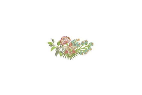Lily Hibiscus flowers Machine Embroidery File design 4 x 4 inch hoop