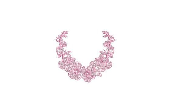 Blossom Frame - Machine Embroidery File design - 4x4 inch hoop - monogram Frame - Instant download