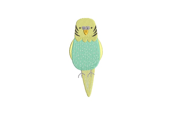 Budgerigar Budgie Machine Embroidery File design 5x7 hoop - instant download