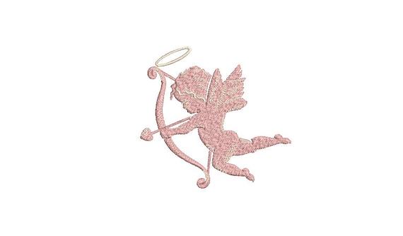 Cupid Machine Embroidery File design - 4x4 inch - valentines embroidery design - Love embroidery