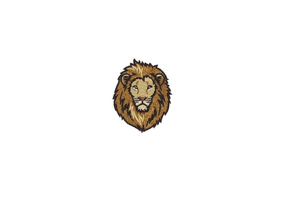 6cm Lion Face Mini Urban Mordern Machine Embroidery File design 4x4 inch hoop