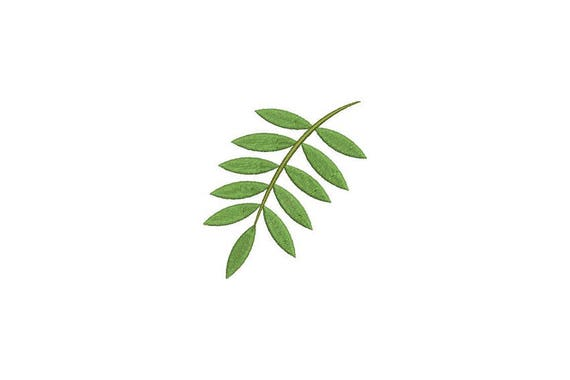 Palm Leaf A Machine Embroidery File design - 4 x 4 inch hoop - Palm Silhouette