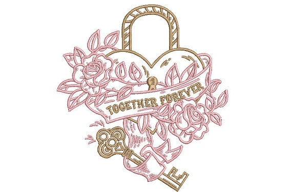 Wedding Embroidery. Together Forever. Machine Embroidery design. 6x10 inch hoop. instant download
