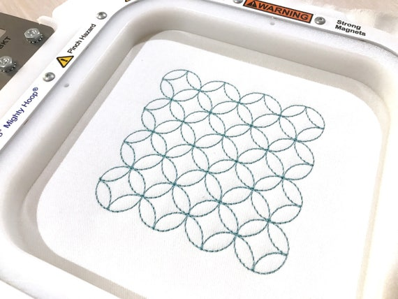 Sashiko quilting square Machine Embroidery File design 4x4 inch hoop