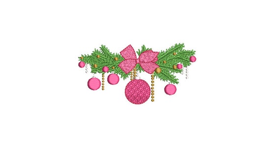 Xmas Display Embroidery - Machine Embroidery File - design 3x3 inch hoop - Christmas Embroidery Design