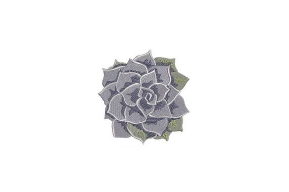 Succulent Plant Flower #1 Machine Embroidery File design 4 x 4 inch hoop Makes a great Patch