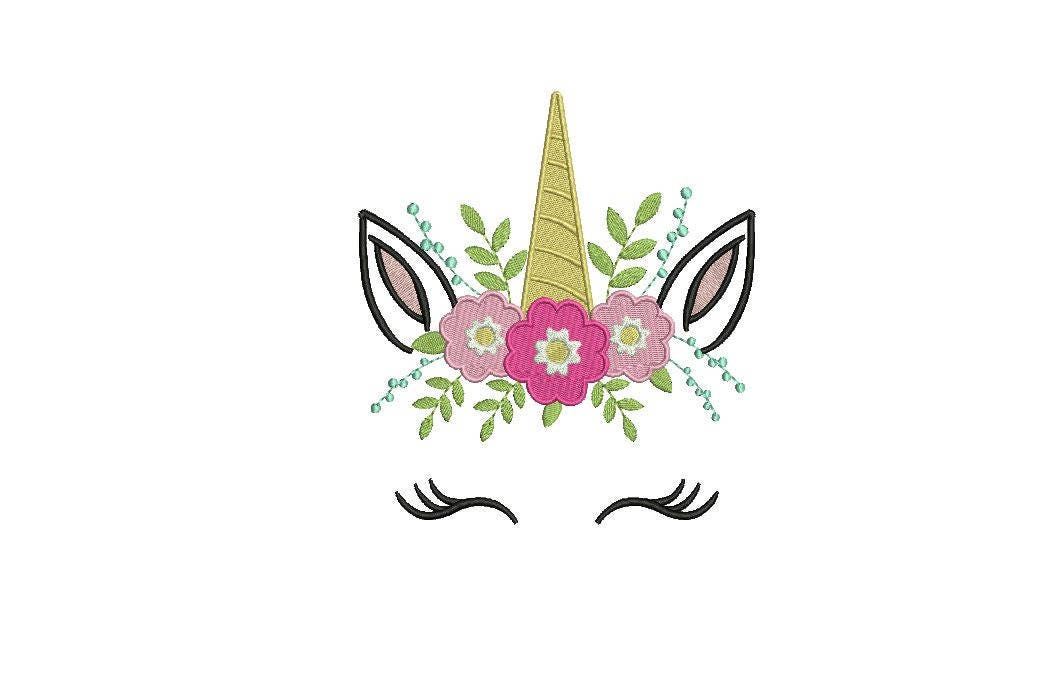 Machine Embroidery Unicorn Face Flowers Machine Embroidery File Design 6x10 Inch Hoop,Indian Lehenga Designs