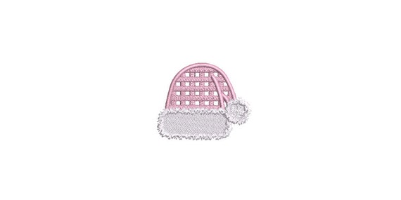 Christmas Machine Embroidery Design - Gingham Santa Hat - 3 x 3 inch hoop - instant download