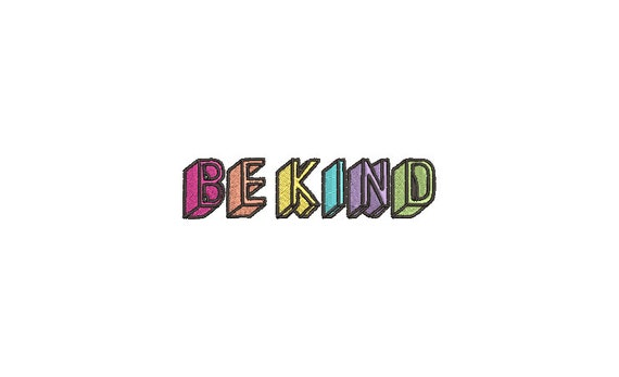 Be kind Blocks - Machine Embroidery File design - 4x4 inch hoop - Quote Embroidery Design