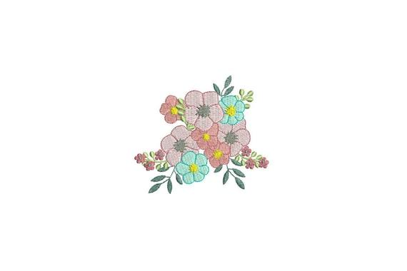 Machine Embroidery Flower Bouquet Machine Embroidery File design 4x4 inch hoop Embroidery design