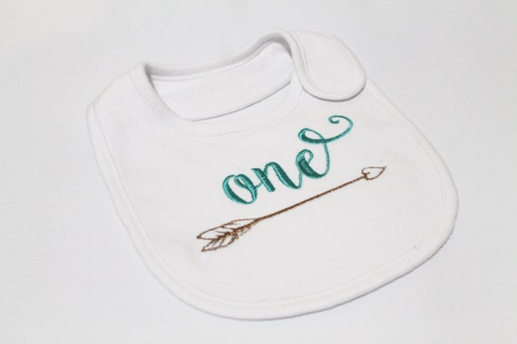 Whimsical Arrow ONE First Birthday Machine Embroidery File design 5x7 hoop