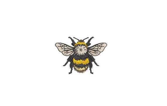 Bumblebee Embroidery - Bee Machine Embroidery File design - 3 x 3 inch hoop - Bee
