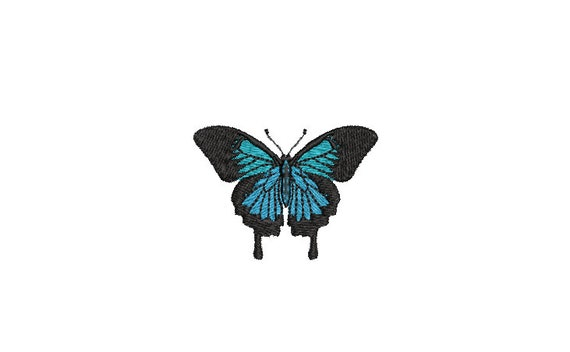 Ulysses Butterfly Machine Embroidery File design - 4x4 inch hoop - Mini 5cm - Ulysses Patch