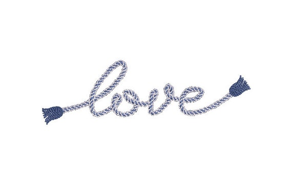 love rope tassels embroidery design - Machine Embroidery File design - 5x7 hoop - Instant download - tassel embroidery