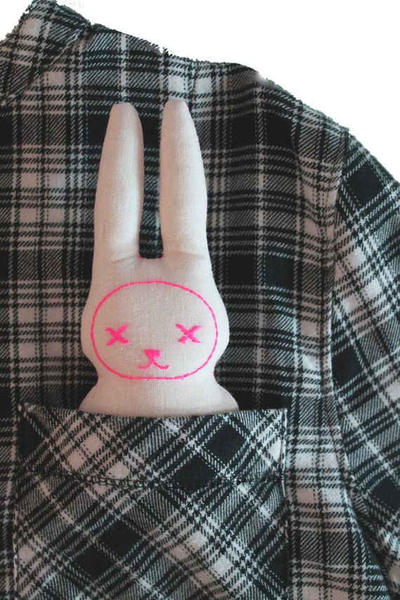 Easy ITH In The Hoop Pocket Bunny Rabbit Stuffie Softie Machine Embroidery PES File design