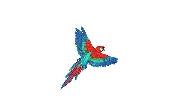 Parrot Embroidery - Machine Embroidery Parrot Machine Embroidery File design 4x4 inch hoop