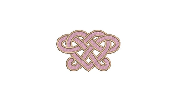 Heart Knot - Machine Embroidery File design 4 x 4 inch hoop - Valentines Embroidery Design