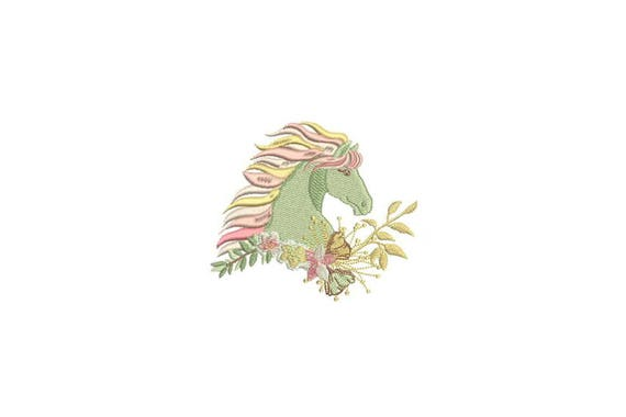 Horse Machine Embroidery File design - 4x4 inch or 10x10cm hoop - Boho Machine Embroidery - Digital Download