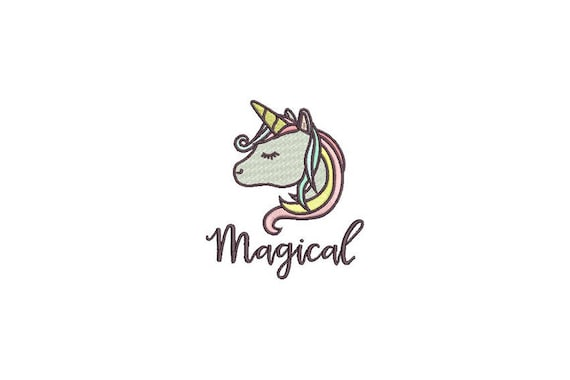 Unicorn Embroidery Design - Machine Embroidery File design 4x4 inch hoop - instant download
