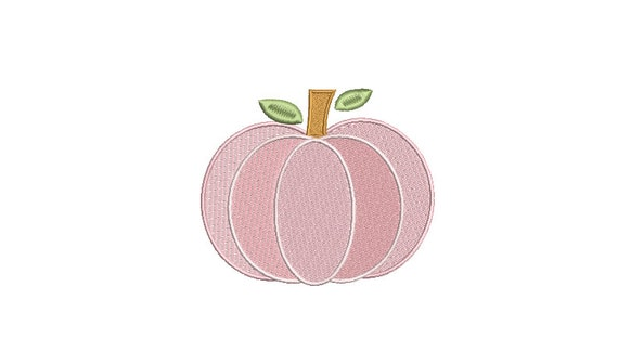 Chinoiserie Chic -  Pink Pumpkin  - Machine Embroidery design - 4x4 inch hoop - instant download