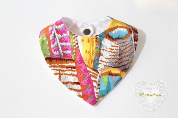 ITH In The Hoop Baby Bandana Bib Machine Embroidery File design 8x12 baby bib pattern