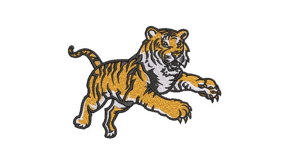 Tiger Embroidery Design - Machine Embroidery File design  - 7x12 inch hoop - Instant download
