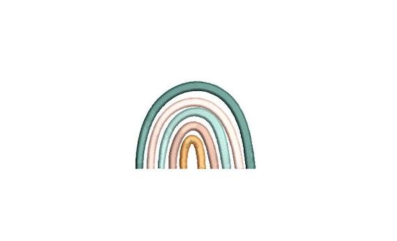 Boho Rainbow Mini Embroidery File design -  3x3 hoop - Satin stitch Rainbow - Rainbow Embroidery File