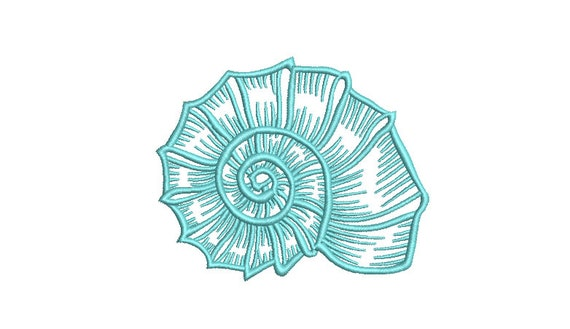 Sea Shell Machine Embroidery File design  - 4x4 inch hoop - instant download - Seashell embroidery design