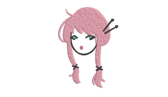 Harajuku Girl - Machine Embroidery File design - 4x4 inch hoop - Instant download - Kawaii Design