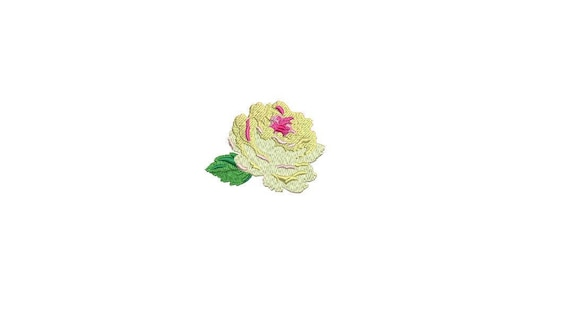 Yellow Rose Machine Embroidery File design 6cm - 4 x 4 inch hoop - Mini Rosette - Rose Silhouette