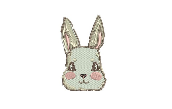 Bunny rabbit embroidery -  Sketch design - Embroidery File design - 4x4 inch hoop