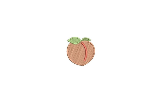 Machine Embroidery Peach Mini 4cm Embroidery File design 4x4 hoop