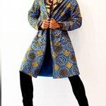 Ray Vincente Blue Ankara print jacket