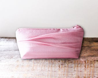 Pleated Pink Bridesmaid Clutch- 32 More Colors